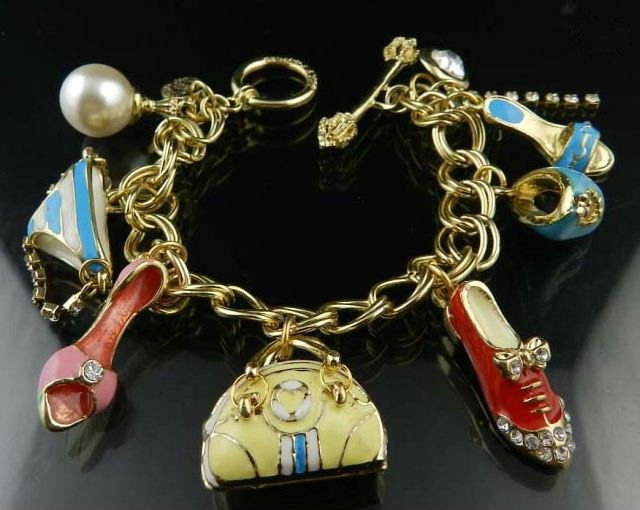Pendants Bracelet Fashion Jewelry Funny Heels Bags Pendants Free Shipping High Quality Gift Box#J6