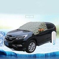 Aluminum Half Car Cover Waterproof Car Sun Protection Universal Covers Sunshade Windscreen Protectors SUV