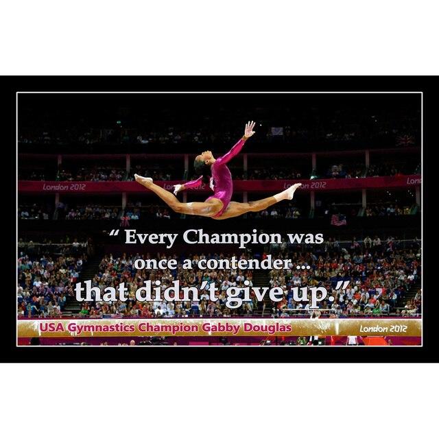 Short Gymnastics Quotes And Sayings: J0269 Gabby Douglas American Gymnastics Motivational
