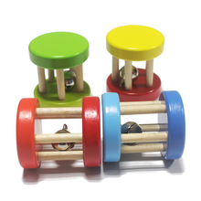 2 PCs multi color Baby wood brand rattle toys/ wooden music instrument toy for Kids Child Orff early learning educational toys
