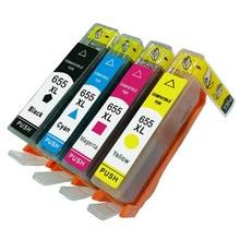 цена на vilaxh for hp 655 655XL Compatible Ink Cartridge For  HP Deskjet Ink Advantage 3525 4615 4625 5525 6520 6525 printer