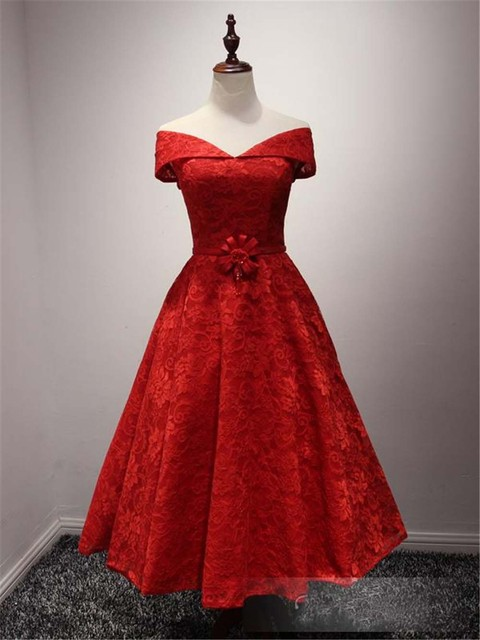 Short red cocktail prom dresses
