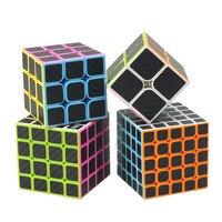 Carbon Fiber Sticker Speed 2x2x2 3x3x3 4x4x4 5x5x5 Magic Cube Magico Brain Tester Educational Toys Pyraminx