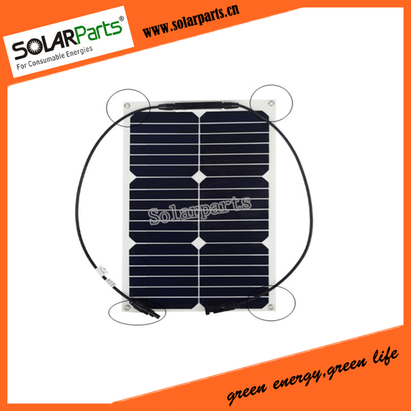 Solarparts 2x18W flexible solar panel solar module 125*125mm solar cell system 12V chargeabl battery boat yacht marine sun power