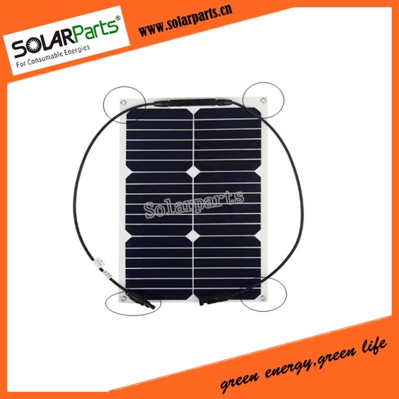 Solarparts 2x18W flexible solar panel solar module 125*125mm solar cell system 12V chargeabl battery boat yacht marine sun power
