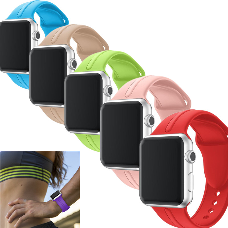 Soft Silicone Band for Apple Watch Belt 38mm 42mm Bracelet Replacement Wrist Sport Strap for iWatch Series 1 / 2/ 3 Wristband youkex silicone sport band for apple watch 38mm 42mm replacement sport bracelet wrist strap for iwatch series 1