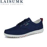 2018 LAISUMK Wholesale Hot Sale Spring New Fashion Suede Men Shoes Mens Canvas Shoes Casual Breathable