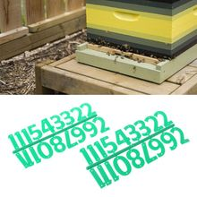 2Pcs Beehive Digital Number Bee Box Sign Frame Beekeeping Equipment Tool Marking Board