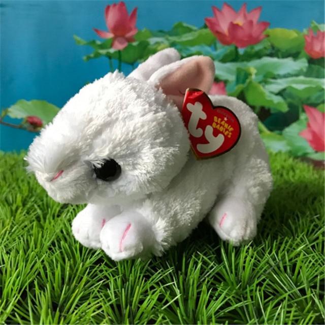 9651250fbbe 12CM cotton bunny rabbit Ty beanie babies Plush Toy Stuffed Animal Nano  dolls children toy soft plush toy christmas gift