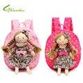 Children Backpack Kids Schoolbags Kindergarten Girls Little Bags Baby Satchel With Pretty Braids Girl Doll Free Drop Shipping