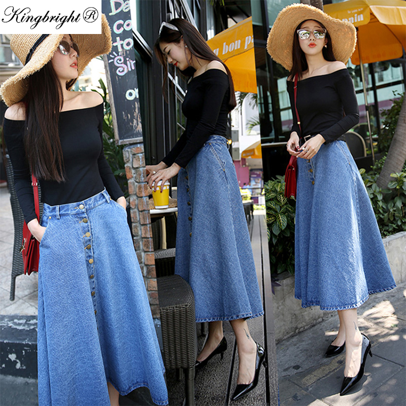 Long Buttoned Skirt Promotion-Shop for Promotional Long Buttoned ...