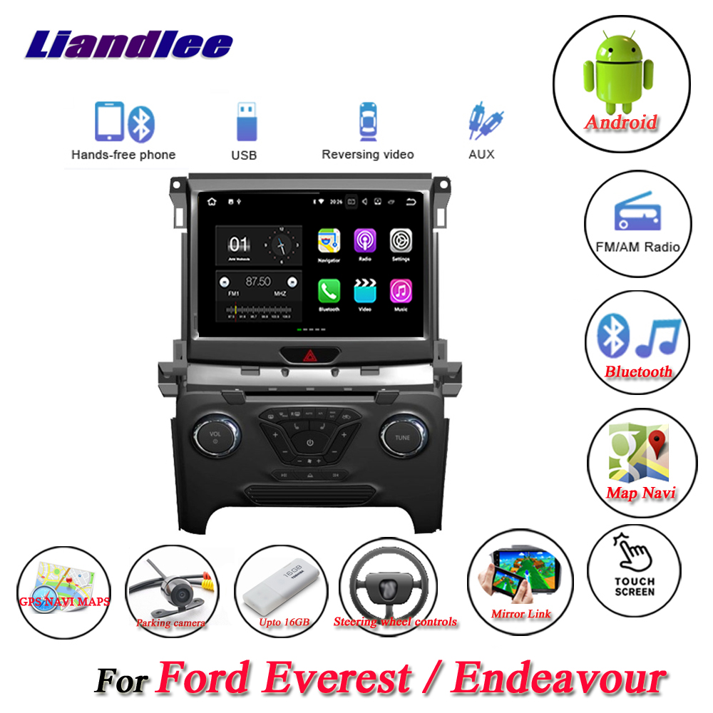 Liandlee Car Android System For Ford Everest / Endeavour Radio Viedo BT GPS Navi MAP Navigation Screen Multimedia NO DVD Player liandlee car android system for chevrolet malibu xl 2016 2018 radio viedo bt gps navi map navigation screen multimedia no cd dvd