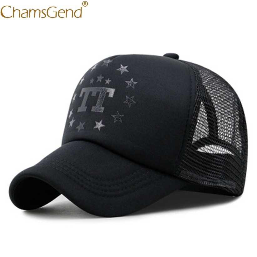 男性野球キャップスナップバック帽子キャップレースヒップホップ帽子モト TT 星プリント通気性メッシュキャップ太陽帽子 gorras パラ homb 906