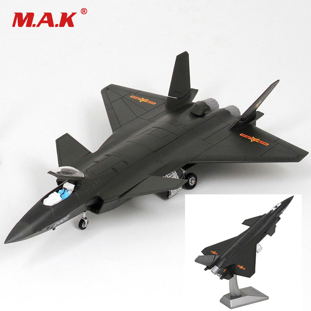 Toys Gift for Children Kids 1:72 Scale Airplane Model Alloy Diecast Aircraft Model J-20 Black Eagle Stealth Fighter Model atlas 1 200 american air force b2 phantom stealth bomber alloy aircraft model collection model holiday gift