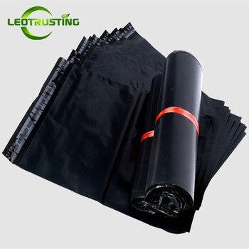 Leotrusting Czarny Poli Mailer Samoprzylepne Koperty Torby Plastikowe Mailing Torby Opakowanie Przesyłki Czarne Wesele Pudełko Pakiet Torba
