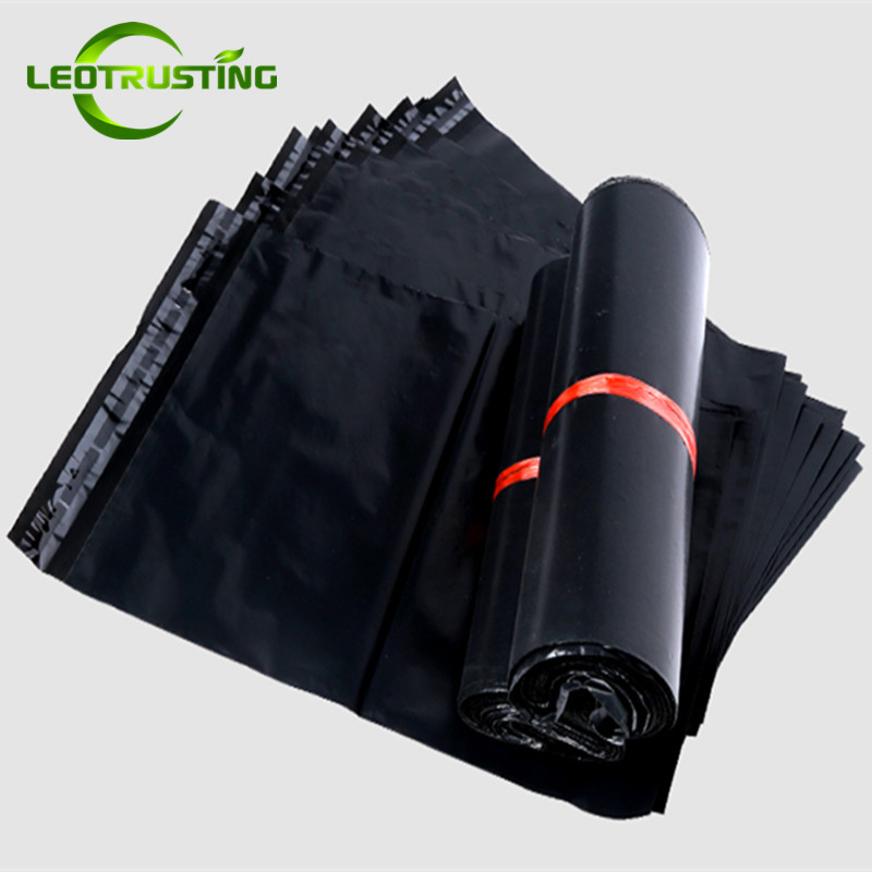 Leotrusting <font><b>Black</b></font> Poly Mailer Adhesive Envelope Bags Shipping Packaging Bags Plastic <font><b>Mailing</b></font> <font><b>Black</b></font> Wedding Gift <font><b>Box</b></font> Package Bag image