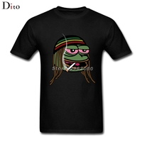 Smoking Frog T-shirt Men Man's Designer Short Sleeve Fashion Custom Big Size Family T-shirts