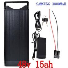 48 в 1000 Вт Батарея 48 В 15AH литиевая батарея 48 В 15ah электрическая велосипедная батарея использование samsung ce с задним фонарем + 54,6 в 2A зарядное устройство