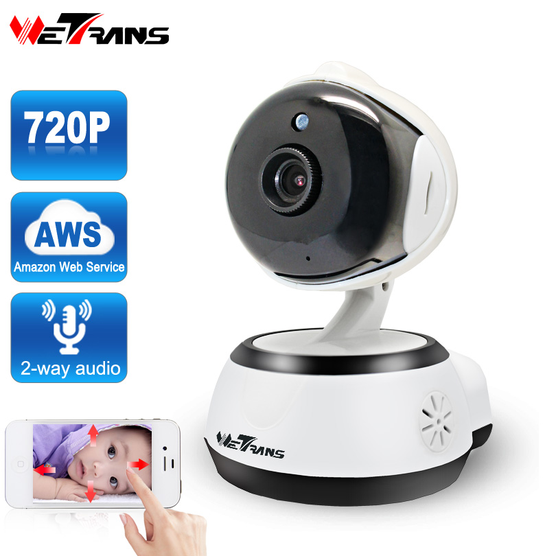 Wetrans Security Wifi Camera Cloud Storage 720P HD P2P IR Night Vision Smart Camera Baby Monitor Home Surveillance Wireless Cam 720p hd wifi camera p2p wireless baby monitor security camera cloud storage night vision camera compatible with sensor detector