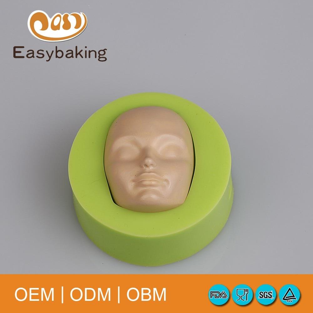 POP әдемі сәбилерге арналған формадағы тортты безендіруге арналған силиконнан жасалған пішінді