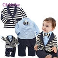 0-24M Cute Boy Baby Infant Formal Gentleman Boys Clothes Set Fomal Coat Romper with Bow tie Clothing Set Newborn wedding Suit