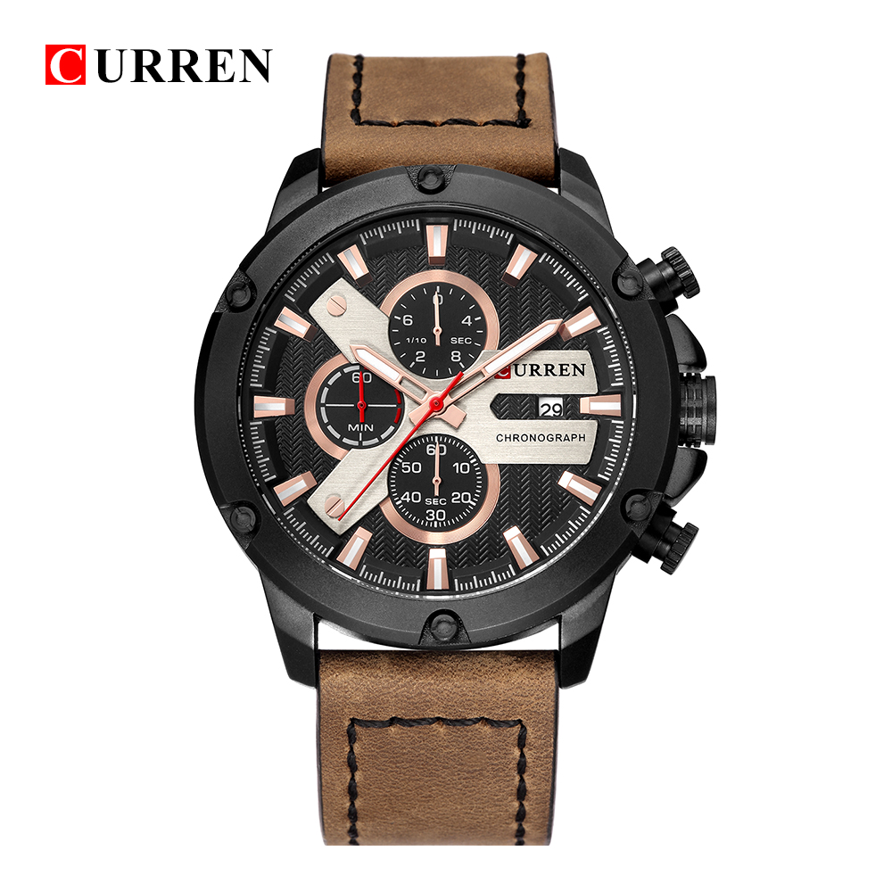 Sport Chronograph Mens Watches Luxury Brand CURREN Classic Black Military  Quartz Clock Male Fashion Casual Relogio MasculinoSport Chronograph Mens Watches Luxury Brand CURREN Classic Black Military  Quartz Clock Male Fashion Casual Relogio Masculino