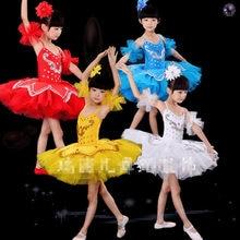 b98122b84e93 2-15Y Children Ballet Tutu Leotard For Dance Bodysuit Dancewear Swan Lake  Ballet Costume For