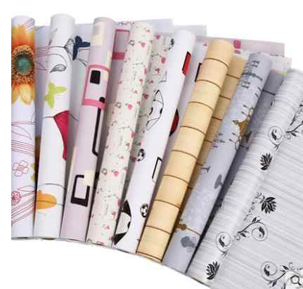 PVC self-adhesive wallpaper wallpaper waterproof 10 m bedroom living room background thick furniture warm renovation stickers