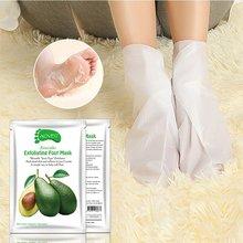 3 Piece / Set Foot Mask Socks Exfoliating Feet Care Avocado Papaya Olive Feet Mask Moisturizing Nourishing Soft Foot Care