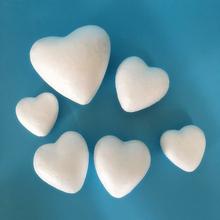 Styropianowe kulki białe Craft w kształcie serca dla DIY boże narodzenie dekoracja na przyjęcie ślubne dostarcza prezenty wystrój domu tanie tanio Foam Decor 1 szt 60mm 85mm 100mm 120mm foam love type can only be used as love