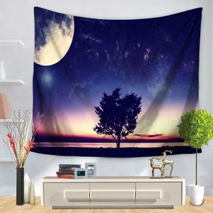 Image 4 - Psychedelic Cosmic Series Stars Tapestry Starry Sky Fabric Wall Hanging Decor Polyester Curtains Plus Table Cover Yoga