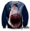 Популярны Захватывающие Отпечатано Пуловеры Море Животных Толстовка Акула Женщина Тонкий Женщины Мужчины Одежда Новинка 3D Толстовки
