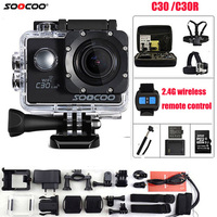 SOOCOO Action Camera C30R Remote control 4K NTK96660 Wifi Gyro Adjustable Viewing angle 170 Degrees Waterproof C30 Sport Camera