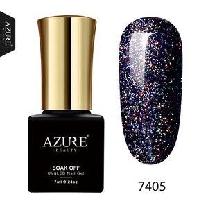 AZURE BEAUTY 1Pcs 7ml Gel Paint Nail Polishes Soak Off Neon Gel Varnish Hybrid Enamel Manicure Rainbow Azure Nail Gel Polish