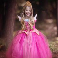 2017 Cinderella Princess Dress Kids Girl Wear Halloween Christmas Party Costume Girls Clothes Fancy Dresses Party