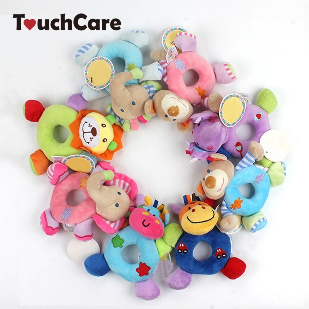 Новорожденных милые хлопковые для маленьких мальчиков девочек Погремушки для новорожденных животных Колокольчик Дети Плюшевые игрушки развития подарки Кольца малыша Игрушечные лошадки