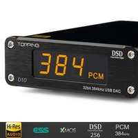 NEW TOPPING D10 MINI USB DAC DSD PCM384 CSS XMOS XU208 ES9018K2M OPA2134 Audio Amplifier Decoder