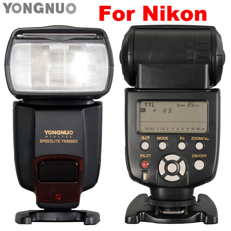 2017YONGNUO TTL Flash Speedlite YN-565EX YN565EX Speedlight for Nikon D7000 D5100 D5000 D3100 D3000 D700 D300 D300s D200 D90 D80 вспышка nikon speedlight sb 700