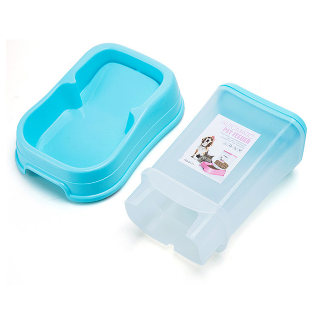 Petshy Pet Automatic Feeder Dog Cat Food Bowl Removable Plastic Kitten Puppy Feeding Dish Dispensers For Small Medium Cats Dogs 2