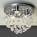 Surface Mounted Modern LED Crystal Ceiling Light With 3 Lights For Living Room Lamp Bedroom Lustres