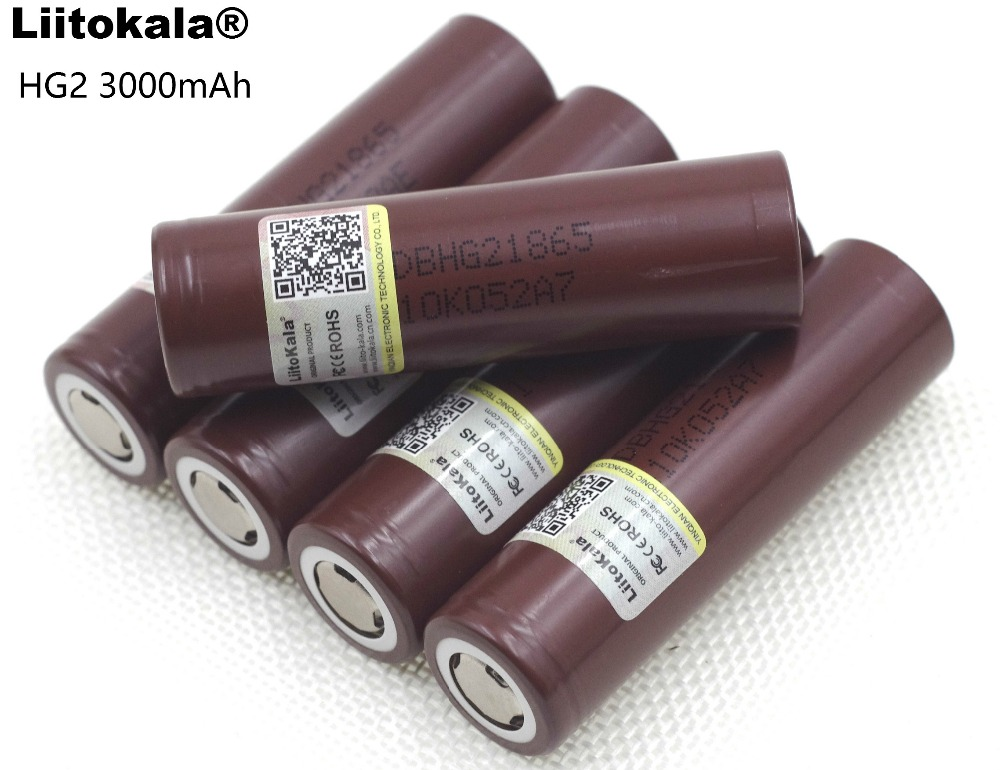 Liitokala For LG 100% New HG2 18650 3000mAh Rechargeable battery 18650HG2 3.6V discharge 20A Max 35A Power batteries 3pcs 100% original varicore 18650 2500mah li ion rechargeable battery 3 7v power electronic cigarette batteries 20a discharge