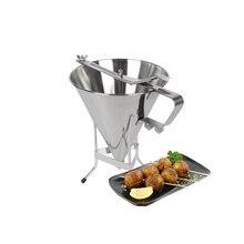 Kitchen Funnel Stainless Steel Hopper Sauce Syrup Batter Dispenser Manual Press Distribution Adjustable Kitchen Bakery Gadget цена и фото