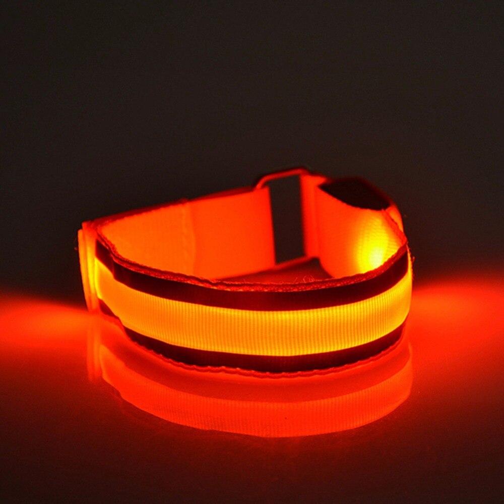 Safety Arm Warmer Belt LED Armband LED Reflective Belt Strap Snap Wrap Arm Band Armband