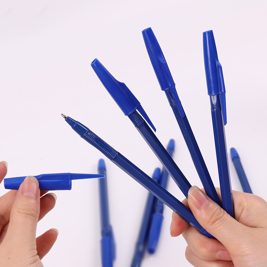 15PCS Fashion Office Stationery Simple Ballpoint Pens 0.7mm Refill Plastic Ballpoint Pens School Student Examination Supplies