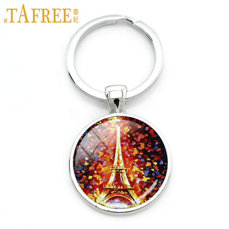 TAFREE fashion Eiffel Tower keychain Paris France Tower Fireworks Congress railway key chain womens Accessories jewelry TB182