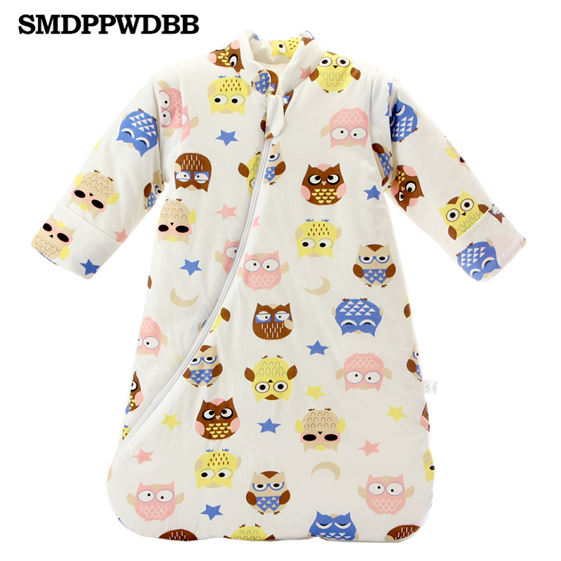 SMDPPWDBB Newborn Baby Sleeping Bag Thickening Detachable Sleeves Winter Organic Cotton Infant Sleeping Bag Keep Warm infant baby sleeping bag baby blankets quilt thick natural cotton sleeping bag detachable sleeves newborn swaddling clothes