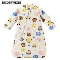 SMDPPWDBB Newborn Baby Sleeping Bag Thickening Detachable Sleeves Winter Organic Cotton Infant Sleeping Bag Keep Warm