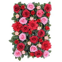 60x40cm Artificial Silk Flowers Wall Wedding Background Lawn Pillar Flower Hydrangea Rose Carnation Home Market Decoration