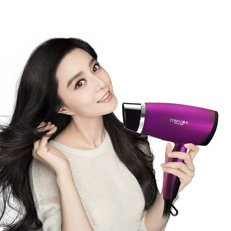 цена на 1800W Mini Hair Dryer Travel Hotle Foldable Handle Hairdryer Hot and Cold Thermostatic Hair Blower Portable Blow Dryer Purple
