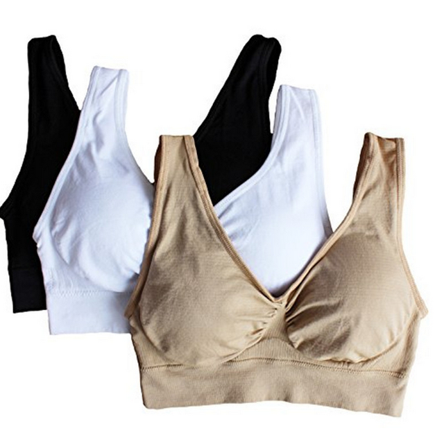 010a8ae0eaad5 3pcs set sexy genie bra With Pads Seamless push up bra plus size XXXL  underwear wireless Bra black white nude Dropshipping